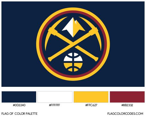 Denver Nuggets Flag Color Palette