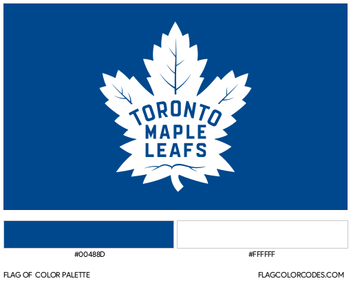 Toronto Maple Leafs Flag Color Palette