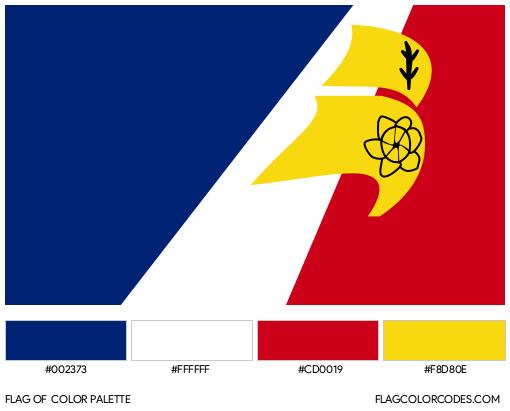 Franco-Terreneuviens Flag Color Palette