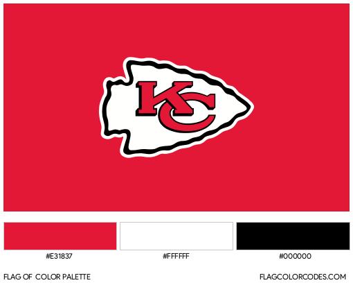 Kansas City Chiefs Flag Color Palette