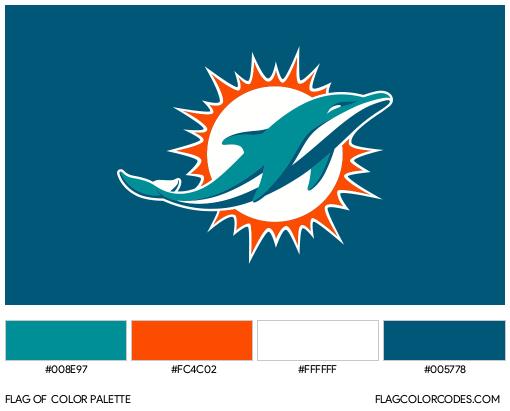 Miami Dolphins Flag Color Palette