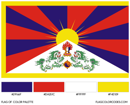 Tibet Flag Color Palette
