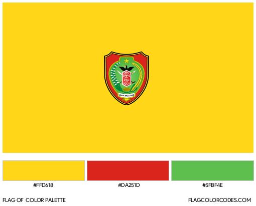 Central Kalimantan Flag Color Palette