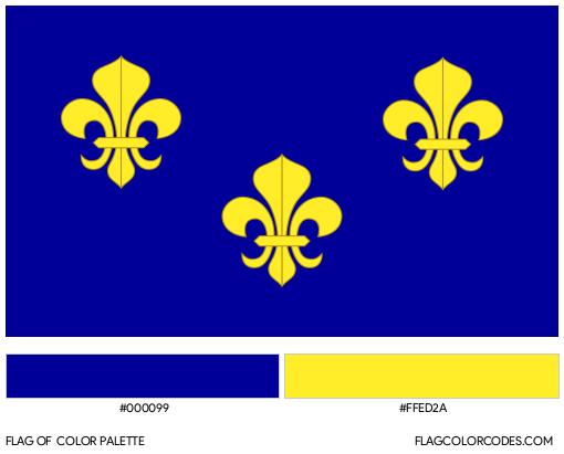 New France Flag Color Palette