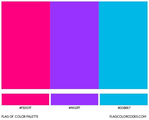 Androgyne Flag Color Palette