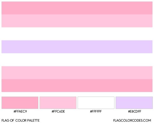 Pomosexual Flag Color Palette