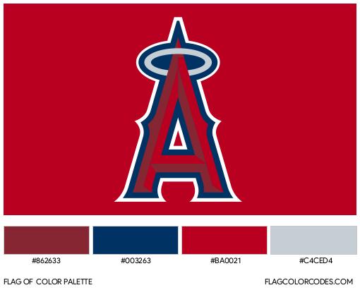 Los Angeles Angels Flag Color Palette