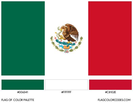 Mexico Flag Color Palette