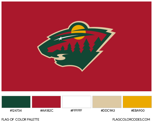 Minnesota Wild Flag Color Palette