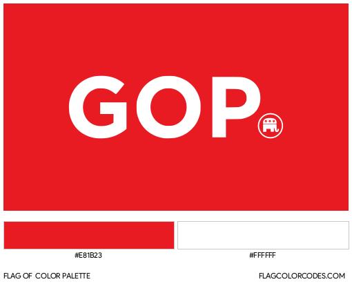 Republican Party (GOP) Flag Color Palette