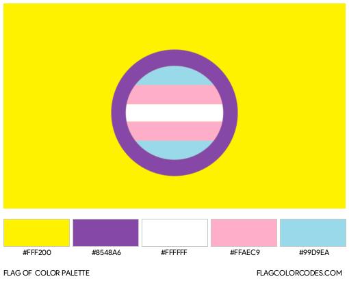 Trans-Intersex Flag Color Palette