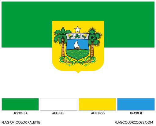 Rio Grande do Norte Flag Color Palette