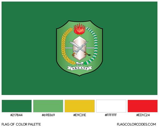 West Kalimantan Flag Color Palette