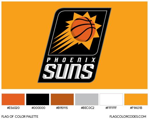 Phoenix Suns Flag Color Palette