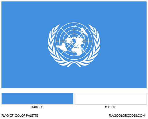 United Nations Flag Color Palette