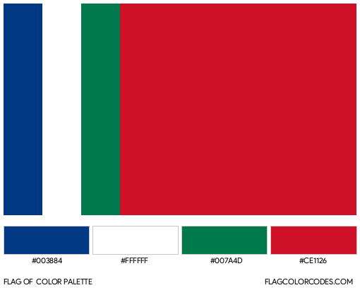 South Maluku Flag Color Palette
