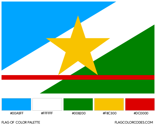 Roraima Flag Color Palette