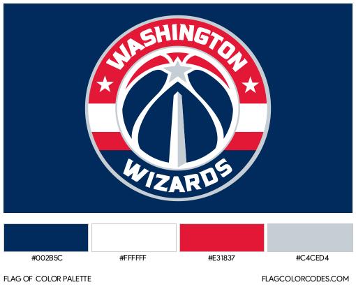 Washington Wizards Flag Color Palette