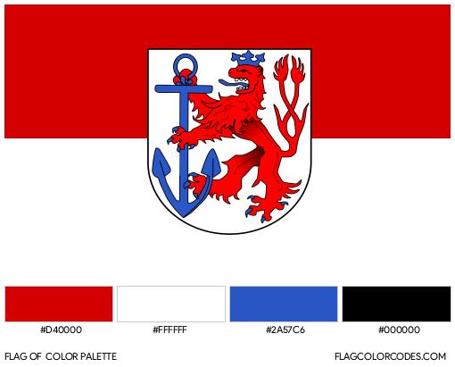 Düsseldorf Flag Color Palette