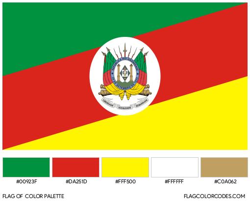 Rio Grande do Sul Flag Color Palette