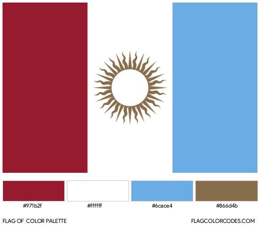 Córdoba Flag Color Palette