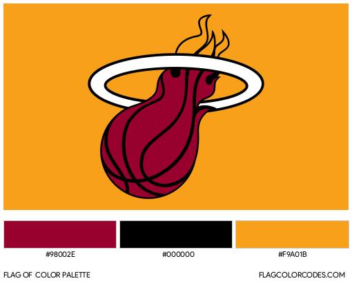 Miami Heat Flag Color Palette