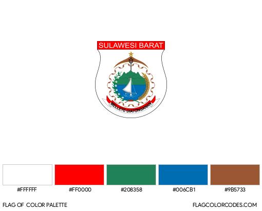 West Sulawesi Flag Color Palette