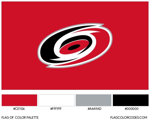 Carolina Hurricanes Flag Color Palette