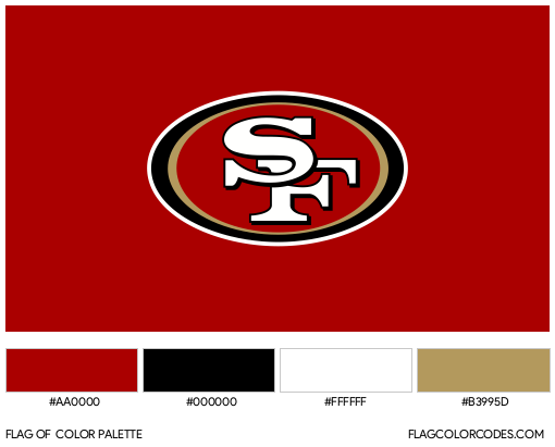 San Francisco 49ers Flag Color Palette