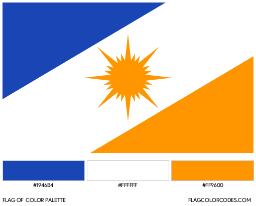 Tocantins Flag Color Palette