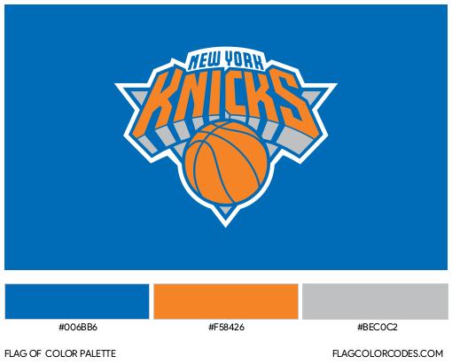 New York Knicks Flag Color Palette