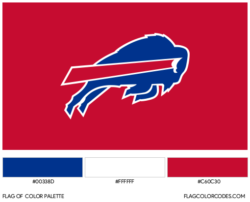 Buffalo Bills Flag Color Palette