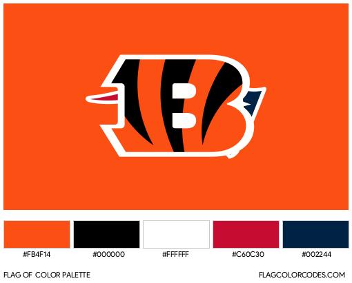 Cincinnati Bengals Flag Color Palette