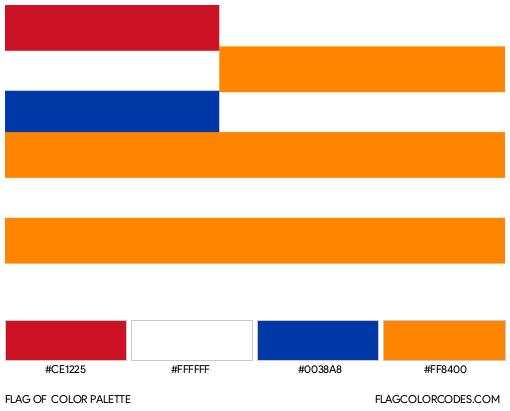 Orange Free State Flag Color Palette