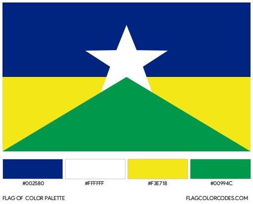 Rondônia Flag Color Palette