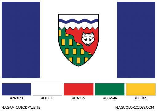 Northwest Territories Flag Color Palette