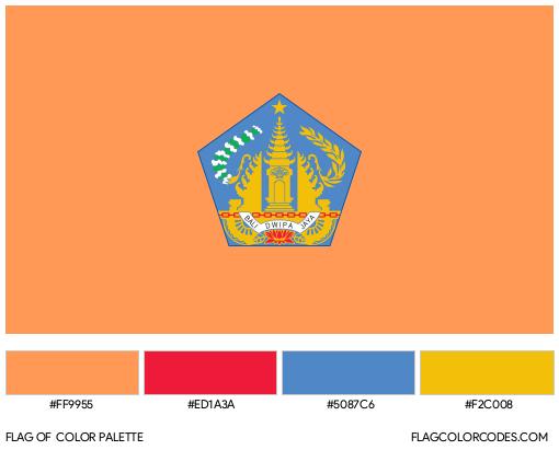 Bali Flag Color Palette