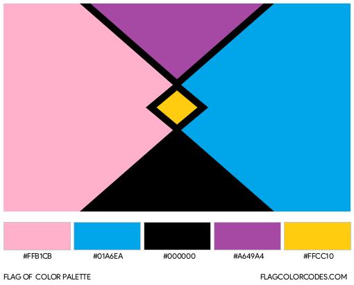 Pocket Gender Flag Color Palette