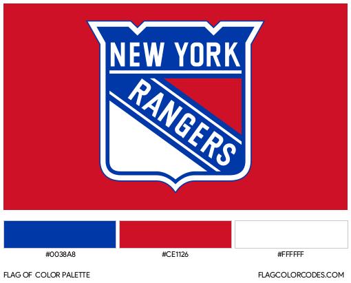 New York Rangers Flag Color Palette