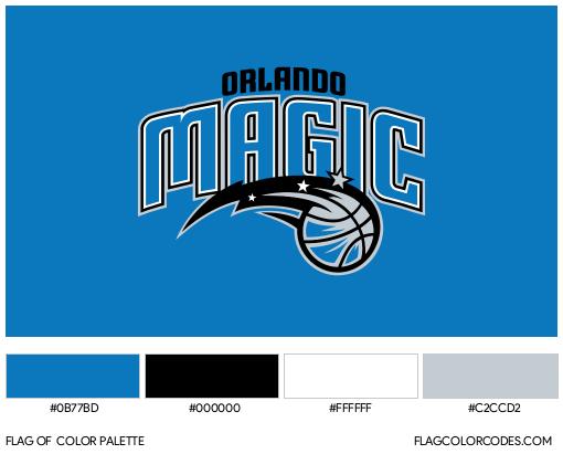 Orlando Magic Flag Color Palette