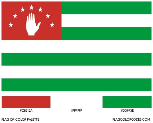 Abkhazia Flag Color Palette