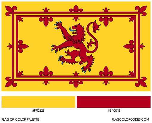 Royal Banner of Scotland Flag Color Palette