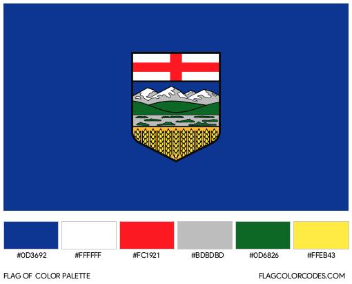 Alberta Flag Color Palette