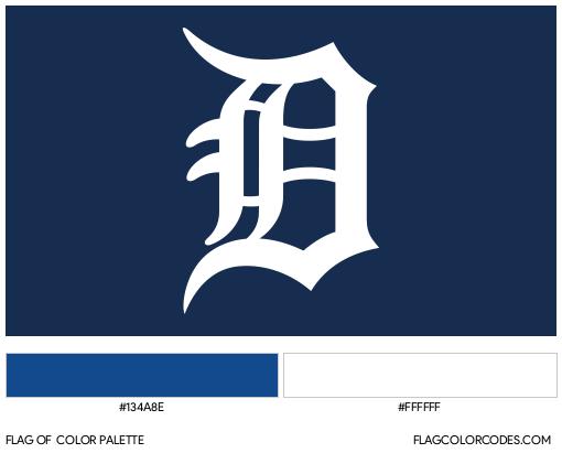 Detroit Tigers Flag Color Palette