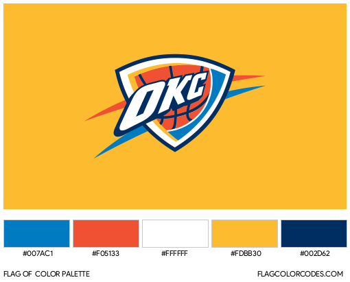 Oklahoma City Thunder Flag Color Palette