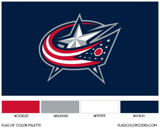 Columbus Blue Jackets Flag Color Palette