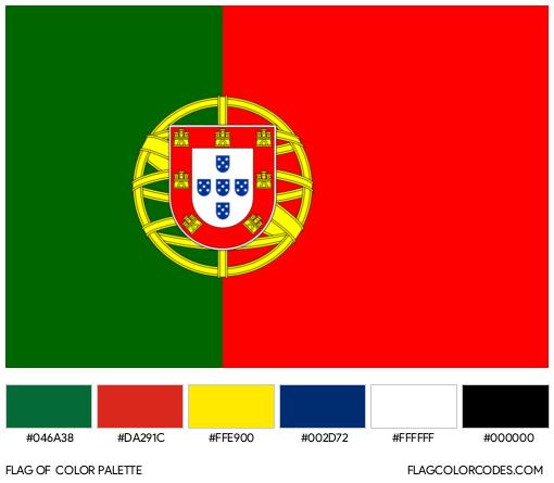 Portugal Flag Color Palette