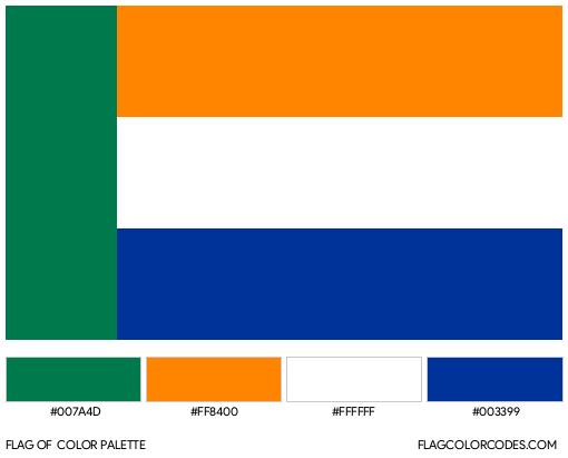 Volkstaat Flag Color Palette
