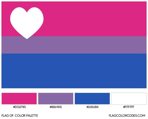 Biromantic Flag Color Palette