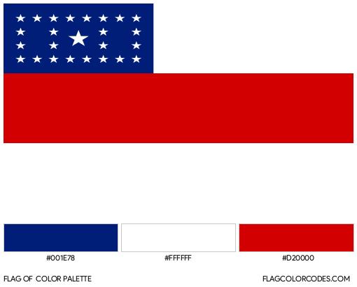 Amazonas Flag Color Palette